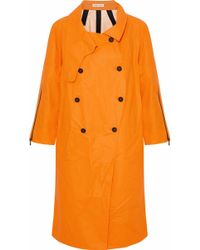 Tomas Maier - Coated Linen And Cotton-blend Raincoat - Lyst
