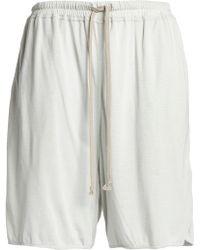 Rick Owens Lilies - Jersey Shorts Light Grey - Lyst
