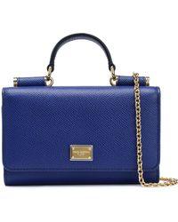 Dolce & Gabbana - Von Textured-leather Shoulder Bag - Lyst