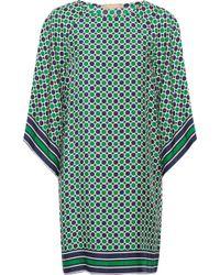 Michael Kors - Printed Silk-twill Mini Dress - Lyst