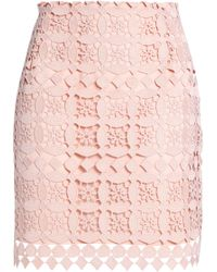 Sandro - Lonely Guipure Lace Mini Skirt Pastel Pink - Lyst