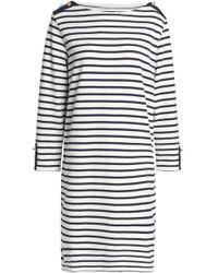 Petit Bateau - Striped Cotton-jersey Dress - Lyst