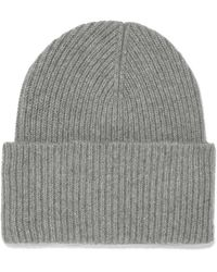 Iris & Ink - Sandra Ribbed Wool And Cashmere-blend Beanie - Lyst