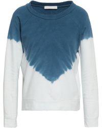Kain Tie-dyed Cotton-fleece Sweatshirt Navy