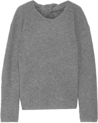 Theory - Twylina Split-back Ribbed Cashmere Jumper - Lyst