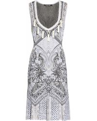 Roberto Cavalli - Tasseled Jacquard-knit Dress - Lyst
