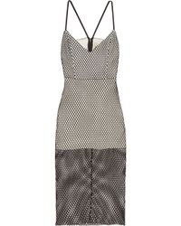 Michelle Mason - Cutout Mesh Dress - Lyst