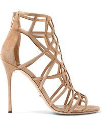 Sergio Rossi - Cutout Suede Sandals - Lyst