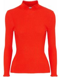 Ganni - Ribbed-knit Top - Lyst