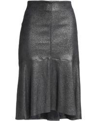 Brunello Cucinelli - Metallic Leather Skirt - Lyst