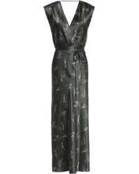 Vince - Wrap-effect Printed Silk-satin Midi Dress - Lyst