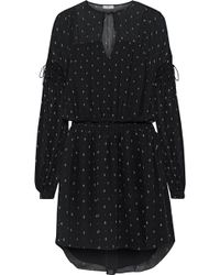Joie - Academia Printed Silk-chiffon Mini Dress - Lyst