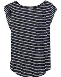 Joie - Adelise Striped Linen-jersey Top - Lyst