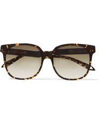 de de de de Gafas sol acetato oscuro Beckham para Victoria mujer acetato de carey Gafas marrón de sol color Lyst RE1nqnd