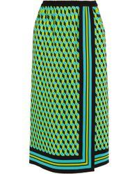 Michael Kors - Wrap-effect Printed Silk Skirt - Lyst