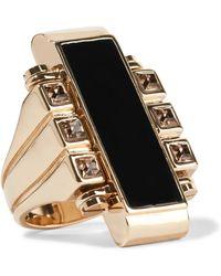 Lanvin - Gold-tone, Swarovski Crystal And Resin Ring - Lyst
