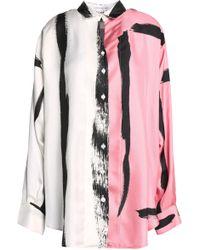 Christopher Esber - Printed Silk-twill Top Baby Pink - Lyst