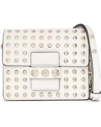 Michael Kors - Studded Leather Shoulder Bag - Lyst