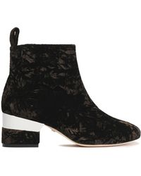 Isa Tapia | Crushed Velvet Ankle Boots Dark Brown | Lyst