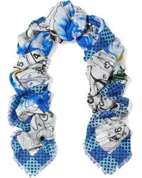 Mary Katrantzou - Paint By Numbers Printed Modal And Cashmere-blend Twill Scarf - Lyst