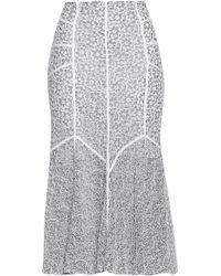 Marissa Webb - Woman Tallulah Lace Midi Skirt White - Lyst