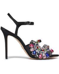 Paula Cademartori - Embellished Satin Sandals - Lyst
