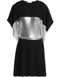 JW Anderson - Cape-effect Metallic-paneled Cutout Crepe Mini Dress - Lyst