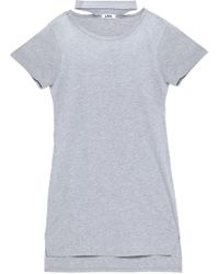 LNA - Cutout Mélange Cotton-blend Jersey Mini Dress - Lyst