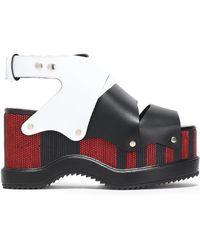Proenza Schouler - Woven Leather Platform Sandals - Lyst