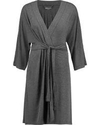 DKNY - Stretch-modal Jersey Robe - Lyst