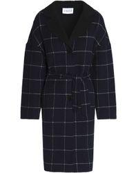 Claudie Pierlot - Belted Checked Wool-blend Felt Coat - Lyst