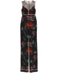 Diane von Furstenberg - Floral-print Silk Crepe De Chine Jumpsuit - Lyst