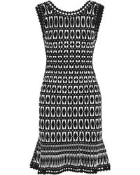 Hervé Léger - Open Knit-trimmed Jacquard-knit Dress - Lyst