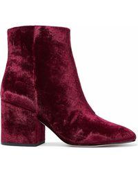 Sam Edelman - Taye Crushed-velvet Ankle Boots - Lyst