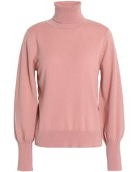 MILLY - Cashmere Turtleneck Sweater - Lyst