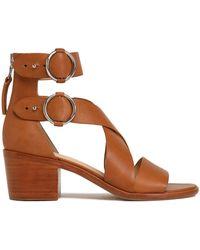 Rag & Bone - Mari Buckled Leather Sandals - Lyst