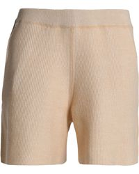 See By Chloé - Ribbed Wool And Cotton-blend Shorts - Lyst