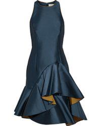 A.l.c. Woman Cutout Silk-blend Satin Mini Dress Storm Blue Size 10 A.L.C. o2cayD6Zo