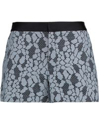 Alexis | Jaeger Satin-trimmed Corded Lace Shorts Sky Blue | Lyst