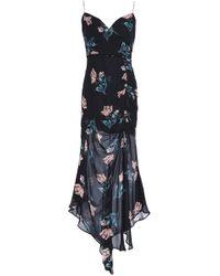 Nicholas - Woman Floral-print Silk-georgette Midi Dress Black - Lyst