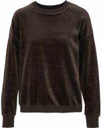 Vince - Cotton-velvet Top Dark Green - Lyst