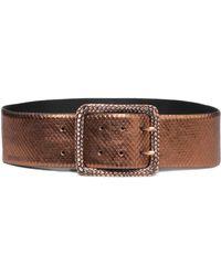 Just Cavalli - Metallic Snake-effect Leather Belt - Lyst