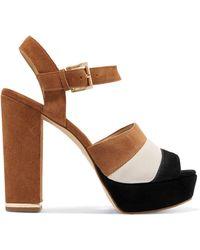 MICHAEL Michael Kors - Color-block Suede Platform Sandals - Lyst