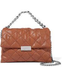 Stella McCartney - Becks Mini Quilted Faux Brushed-leather Shoulder Bag - Lyst