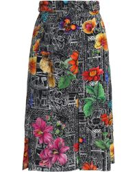 Matthew Williamson - Printed Silk Crepe De Chine Skirt - Lyst