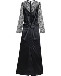 Nina Ricci - Embroidered Tulle-paneled Twist-front Satin Gown - Lyst