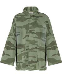 Current/Elliott - The Fleet Admiral Printed Cotton Jacket Army Green - Lyst