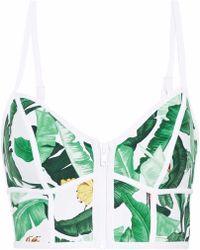 Duskii - Printed Neoprene Bikini Top - Lyst