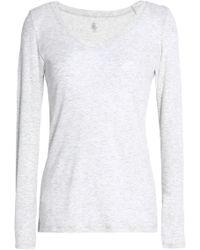 Petit Bateau - Mélange Cotton-jersey Top - Lyst
