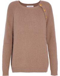Balmain - Button-detailed Knitted Sweater - Lyst